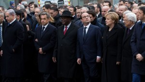 PARIS: Heads of States during a rally in Paris to honor the 17 victims of three days of bloodshed